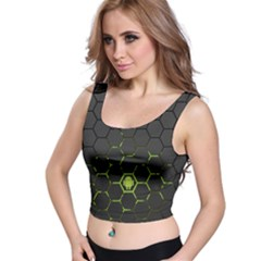 Green Android Honeycomb Gree Crop Top