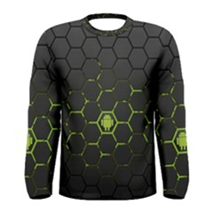 Green Android Honeycomb Gree Men s Long Sleeve Tee