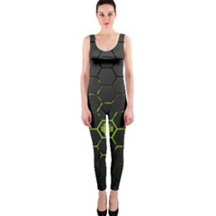 Green Android Honeycomb Gree OnePiece Catsuit