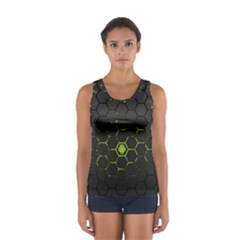 Green Android Honeycomb Gree Women s Sport Tank Top