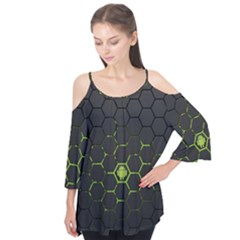 Green Android Honeycomb Gree Flutter Tees