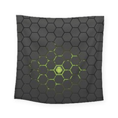 Green Android Honeycomb Gree Square Tapestry (small)