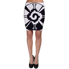 Maya Calendar Native American Religion Bodycon Skirt