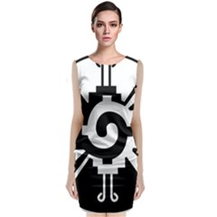 Maya Calendar Native American Religion Sleeveless Velvet Midi Dress
