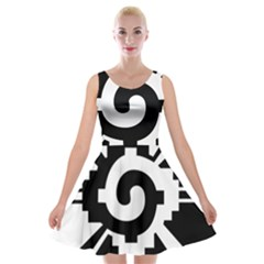 Maya Calendar Native American Religion Velvet Skater Dress