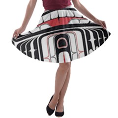 Ethnic Traditional Art A-line Skater Skirt
