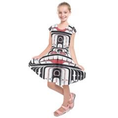 Ethnic Traditional Art Kids  Short Sleeve Dress
