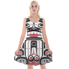 Ethnic Traditional Art Reversible Velvet Sleeveless Dress