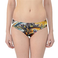 Flower Art Traditional Hipster Bikini Bottoms