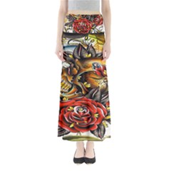 Flower Art Traditional Maxi Skirts