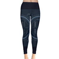Minimalistic Knowledge Mathematics Trigonometry Leggings