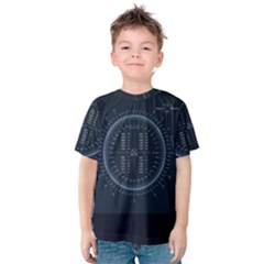 Minimalistic Knowledge Mathematics Trigonometry Kids  Cotton Tee
