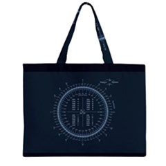 Minimalistic Knowledge Mathematics Trigonometry Large Tote Bag