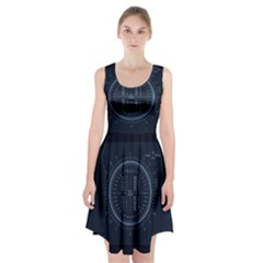 Minimalistic Knowledge Mathematics Trigonometry Racerback Midi Dress