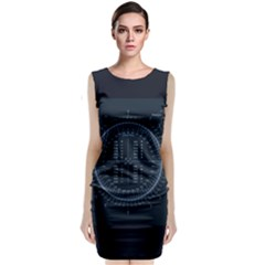Minimalistic Knowledge Mathematics Trigonometry Sleeveless Velvet Midi Dress