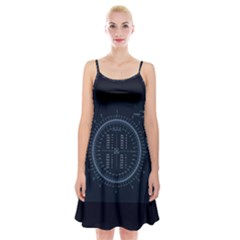 Minimalistic Knowledge Mathematics Trigonometry Spaghetti Strap Velvet Dress