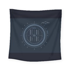Minimalistic Knowledge Mathematics Trigonometry Square Tapestry (small)