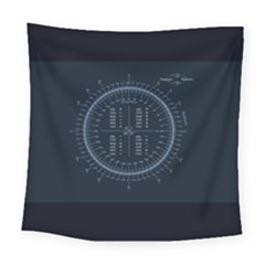 Minimalistic Knowledge Mathematics Trigonometry Square Tapestry (large)