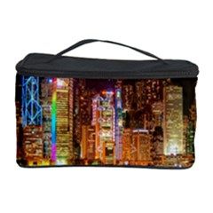 Light Water Cityscapes Night Multicolor Hong Kong Nightlights Cosmetic Storage Case