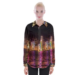 Light Water Cityscapes Night Multicolor Hong Kong Nightlights Shirts