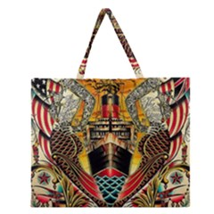Hail Fine Art Print Zipper Large Tote Bag