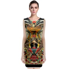 Hail Fine Art Print Sleeveless Velvet Midi Dress