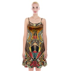 Hail Fine Art Print Spaghetti Strap Velvet Dress