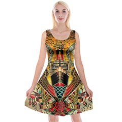 Hail Fine Art Print Reversible Velvet Sleeveless Dress