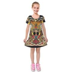 Hail Fine Art Print Kids  Short Sleeve Velvet Dress