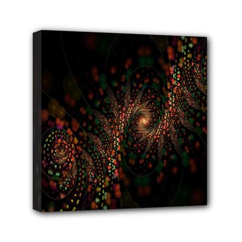 Multicolor Fractals Digital Art Design Mini Canvas 6  X 6