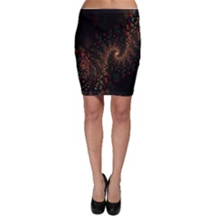 Multicolor Fractals Digital Art Design Bodycon Skirt