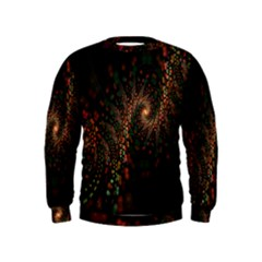 Multicolor Fractals Digital Art Design Kids  Sweatshirt