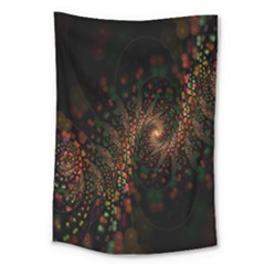 Multicolor Fractals Digital Art Design Large Tapestry