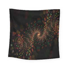 Multicolor Fractals Digital Art Design Square Tapestry (small)