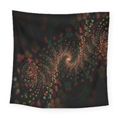 Multicolor Fractals Digital Art Design Square Tapestry (large)