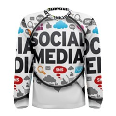 Social Media Computer Internet Typography Text Poster Men s Long Sleeve Tee