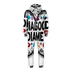 Social Media Computer Internet Typography Text Poster Hooded Jumpsuit (kids)