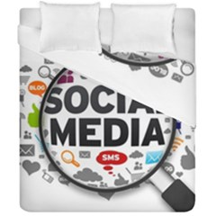Social Media Computer Internet Typography Text Poster Duvet Cover Double Side (california King Size)