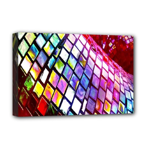 Multicolor Wall Mosaic Deluxe Canvas 18  x 12