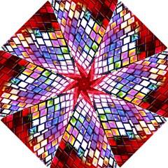 Multicolor Wall Mosaic Hook Handle Umbrellas (Small)
