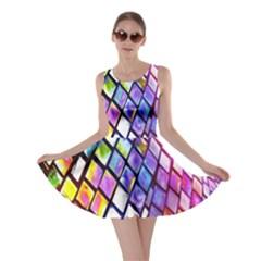 Multicolor Wall Mosaic Skater Dress