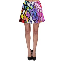 Multicolor Wall Mosaic Skater Skirt