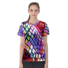Multicolor Wall Mosaic Women s Sport Mesh Tee