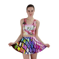 Multicolor Wall Mosaic Mini Skirt