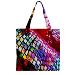 Multicolor Wall Mosaic Zipper Grocery Tote Bag