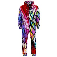Multicolor Wall Mosaic Hooded Jumpsuit (Men)