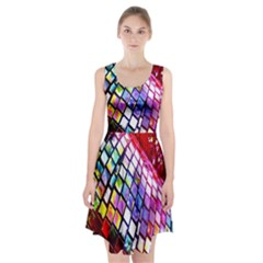 Multicolor Wall Mosaic Racerback Midi Dress