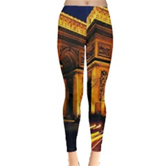 Paris Cityscapes Lights Multicolor France Leggings
