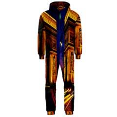 Paris Cityscapes Lights Multicolor France Hooded Jumpsuit (men)