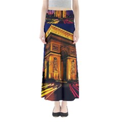 Paris Cityscapes Lights Multicolor France Maxi Skirts